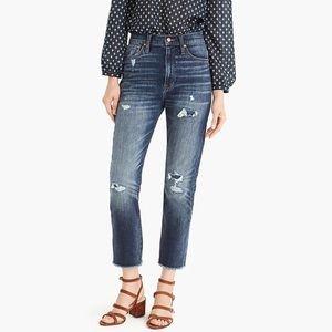 J. CREW Point Sur High Rise Slim Boy Jeans Denim